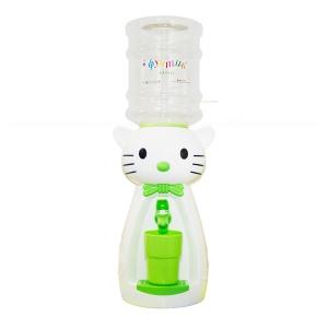 Детский кулер для воды кот Китти белый с салатовым - Аква Няня