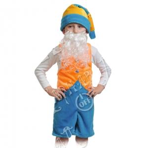 Детский карнавальный костюм из плюша Гномик 2
