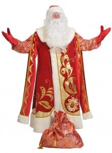 Костюм Дед Мороз для взрослых Хохлома