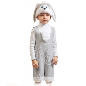 Детский карнавальный костюм Зайчик серый
