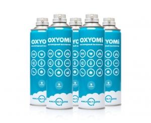 Кислородные баллончики «OXYOMi», 9л (КОМПЛЕКТ 5 ШТУК) + МАСКА