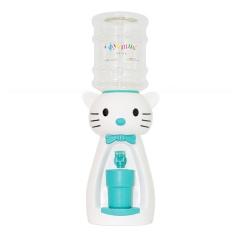 Детский кулер для воды кот Китти белый с бирюзовым- АкваНяня