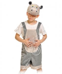 Детский карнавальный костюм из плюша Бегемотик