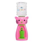 Детский кулер для воды  кот Китти розовый с салатовым — АкваНяня