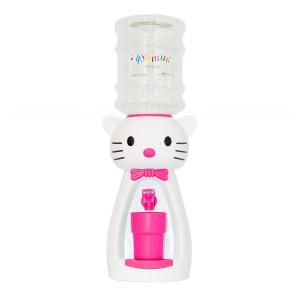 Детский кулер для воды кот Китти белый с розовым - АкваНяня