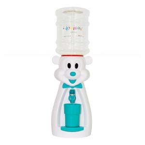 Детский кулер для воды Мышка белая с бирюзовым - АкваНяня
