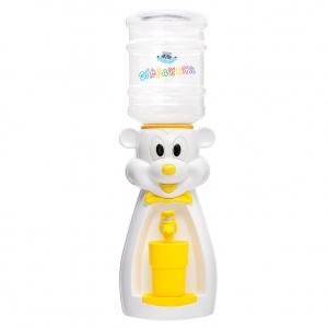 Детский кулер для воды мышка белая с желтым — АкваНяня