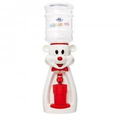 Детский кулер для воды мышка белая с красным — АкваНяня