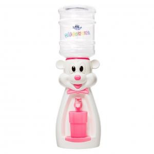 Детский кулер для воды мышка белая с розовым — АкваНяня