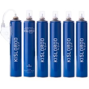 Набор кислородный Prana Kislorod (6 баллончиков 16L + мягкая маска)