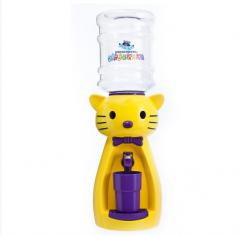 Детский кулер для воды кот Китти желтый с фиолетовым — АкваНяня