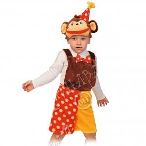 Детский карнавальный костюм из плюша Шимпанзёнок из цирка