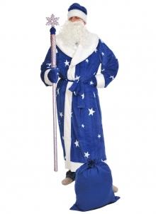 Костюм Дед Мороз для взрослых Синий
